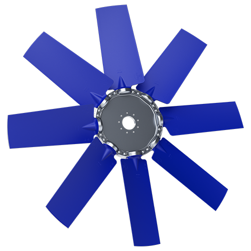8-bladed P8Y axial fan