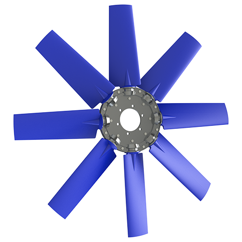 8-bladed P5Z axial fan
