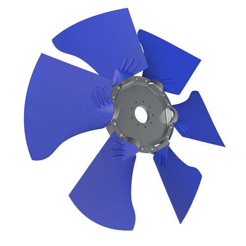 6-bladed S45Y axial fan