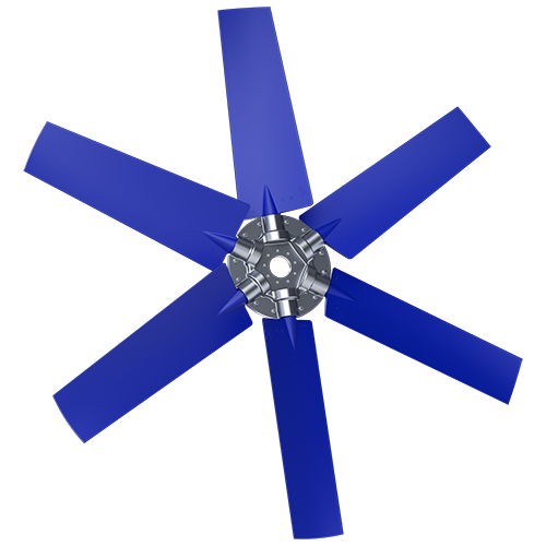 6-bladed P9T axial fan