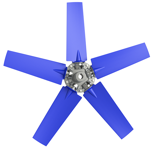 5-bladed P4Z axial fan