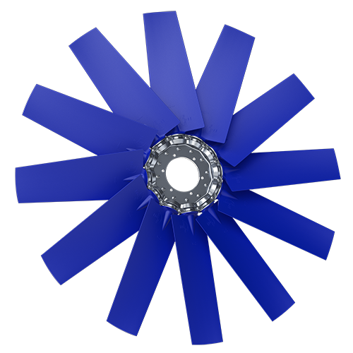 12-bladed P6Z axial fan