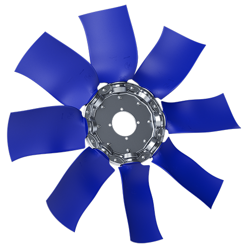 8-bladed S38Z axial fan